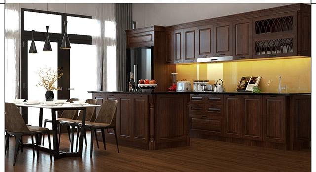 Tủ bếp tự nhiên mang vẻ đẹp chân thật