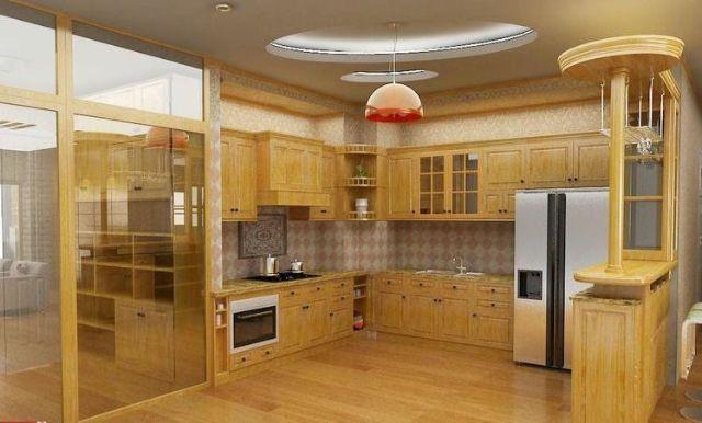 Tủ bếp gỗ cẩm lai