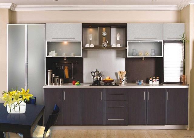 Tủ bếp acrylic có nhiều loại khác nhau