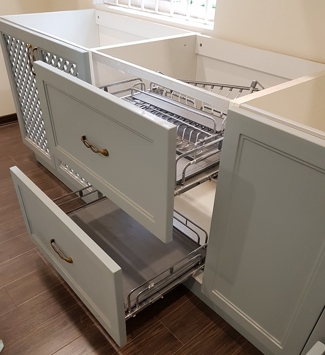 Mẫu tủ bếp đóng mới do Tuấn Đạt thực hiện