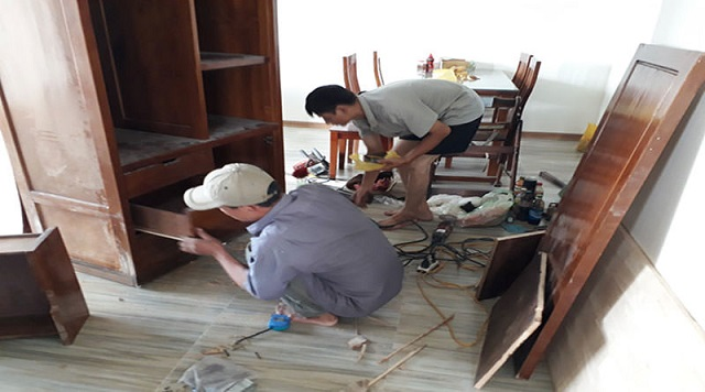 Dịch vụ sửa chữa đồ gỗ, tủ bếp tại Hoàng Mai chất lượng, uy tín