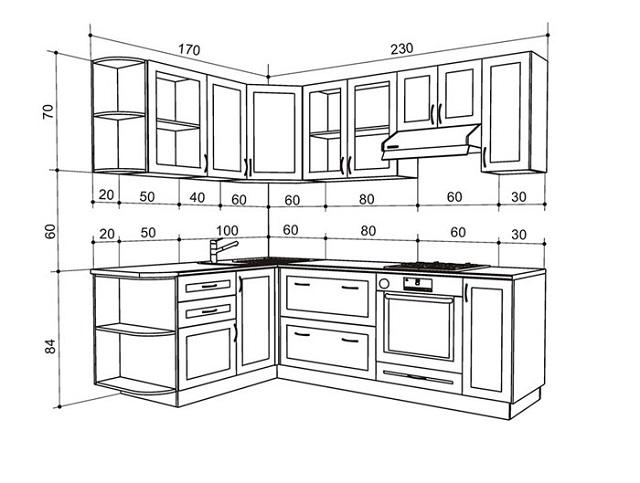 Kích thước tủ bếp theo tiêu chuẩn Việt như thế nào?