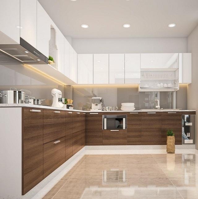 Tủ bếp gỗ công nghiệp là gì?